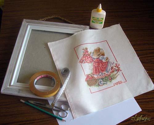 Как самому сделать паспарту для вышивки
