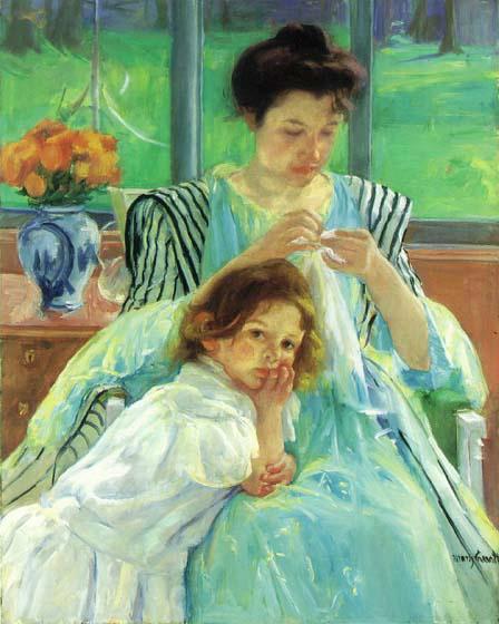 Дочь и мама. Рукоделие